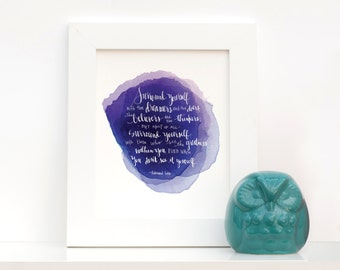 Surround Yourself with Dreamers : Inspirational Quote Giclee Art Print