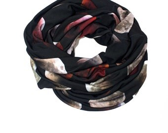 Blood Moon Circle Scarf, Cowl Scarf