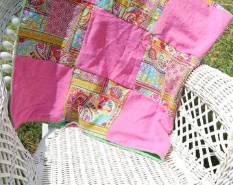Pink and Paisley Baby Quilt