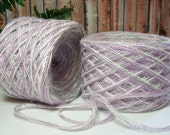 Dazzle Combo Yarn, Lavender, Lilac, Silver Gray, Sparkling White, 380 Yards of Bulky Weight Yarn, Hand Blended, YOMD, Bin 5