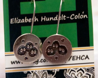 Handmade Sterling Silver Susuwatari or Soot Sprites Dangle Earrings