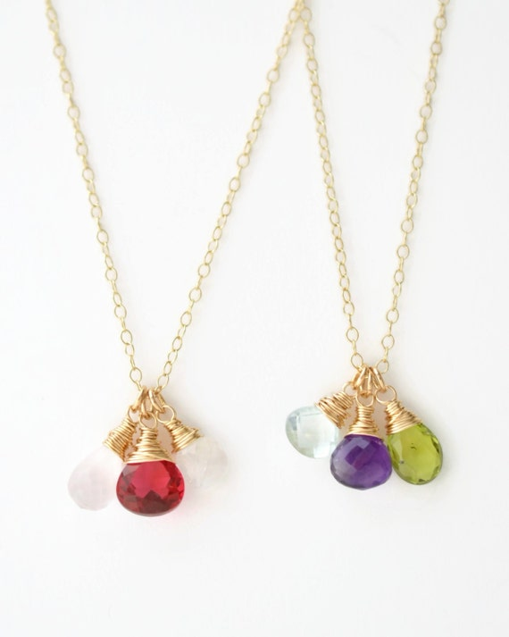 mothers birthstone necklace mothers jewelry by