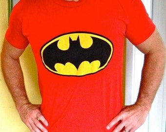 1980s Batman vintage tee shirt - red size large