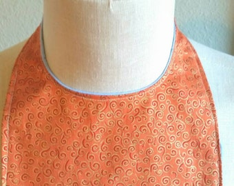 Orange Swirl Print Baby Bib