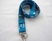 Lanyard Badge Id Key Holder.... Dr Seuss The Cat in the Hat Red Blue or Chevron Zig Zag