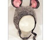 hat newborn felt baby mouse