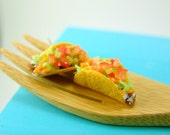 Food Earrings Taco Earrings MADE TO ORDER Post or Clip On Earrings