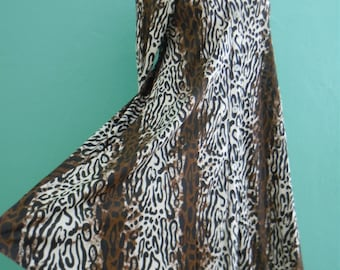 vintage 70's animal print shirt dress // animal print tent dress