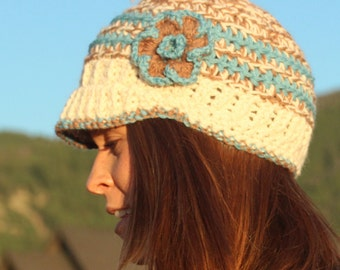 Knit Brimmed Alpaca Hat - Made in Montana