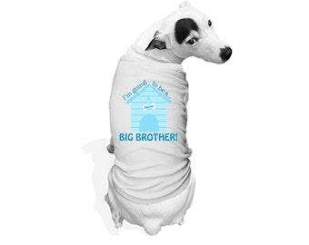 Doggie Tank Top or Bandana - I'm going to be a Big Brother! Dog House Design - Personalized with ANY name! Great for Pregnancy Announcement!