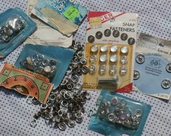 Vintage Decorative Snaps Lot, Western, Sewing, Destash Junk Drawer Lot