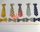 SALE ties. For use with Cuddle Sleep Dream shirts and bodysuits only. Plaid, Stripe, Gray, Navy.