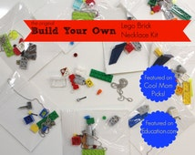 Boys Stocking Stuffer. Build your own LEGO brick necklace DIY Kit. For Boys or Girls.  Party Favor. Gift. For Kids Children.