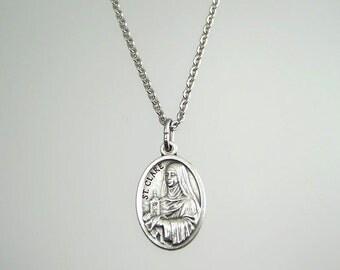 Saint Clare Saint Francis Medal Necklace