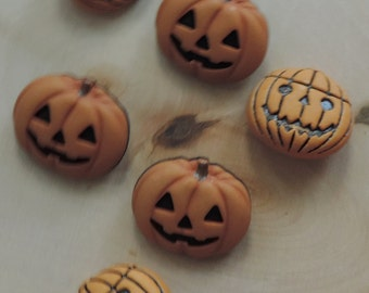 "Pumpkin Buttons, Novelty Button Assortment Package, ""Jack O Lantern"" by Buttons Galore, Assorted Styles, Shank Back Buttons"