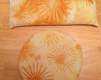 Joy, Joy, Joy Gemstone Eye or Chakra Pillow----Sunstone and Kunzite