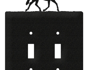Horse Quarter Light Switch Double Plate Cover
