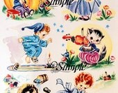 Waterslide Nursery Rhyme Decal Sheet 8 x 10 inches Home Decor, Child Decor,  Furniture, Walls Transfer Images 6 Images