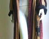 vtg Art deco tribal arty duster coat
