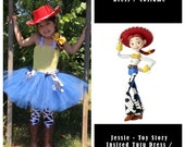 Toy Story Inspired Jessie Tutu Birthday Dress / Halloween Costume Perfect for Dress Up Cowboy Cowgirl