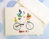 Christmas Card, Holiday Cards, Set of 10 cards