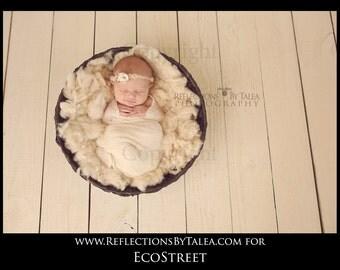 Basket Stuffer, Natural Cream Basket Stuffer, Prop Fluff, Organic Stuffer, Newborn Photo Prop, Natural Props, Organic Props, Newborn Props