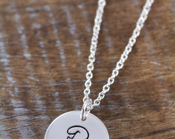 Initial Necklace, Personalized Mothers Day Gift Mommy Jewelry 925 Sterling Silver Jewelry
