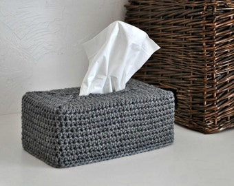 Modern Tissue Box Cover Nursery Decoration Grey Home Decor Kleenex Box Cover