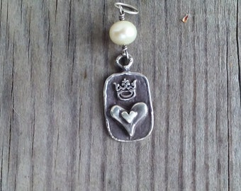 Queen of Hearts Sterling Silver Pendant