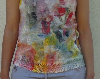 Hand Painted Tank Top for Women