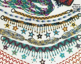 Beading Necklace Book Suzanne McNeill, Stars, Fringe, Tube, Daisy and more