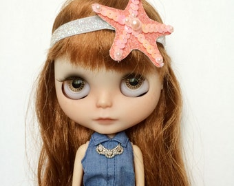 Mermaid Starfish Headband for Blythe