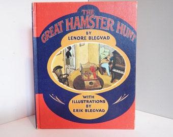 Vintage Children's Book The Great Hamster Hunt by Lenore and Erik Blegvad