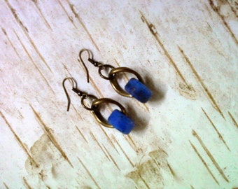Blue Ceramic Earrings (2182)