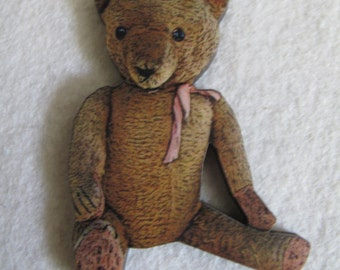 Old Loved Teddy Needle Minder with double magnet by cheswickcompany