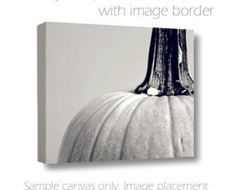 Pumpkin Photography Still Life Photograph Black & White Autumn Kitchen Art Fine Art Photo Canvas 8x10/11x14/16x20/20x30/24x36 Farmers Market