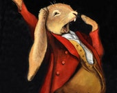 "Rabbit art - ""Leverette"" - 8x10 photo print"