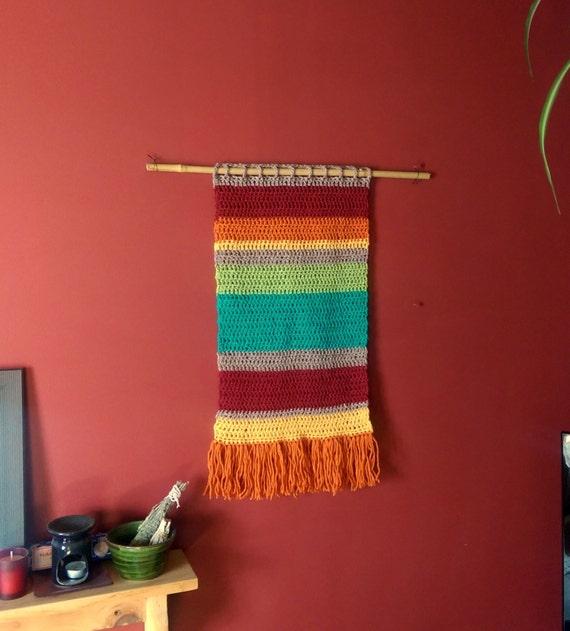 Hand crocheted boho wall hanging / wall decor / wall art