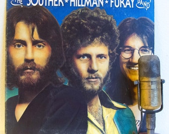 "ON SALE The Souther Hillman Furay Band Vinyl Record Albums 1970s Country Rock and Roll Singer Songwriter ""Souther-Hillman-Furay"" (1974 Elekt"