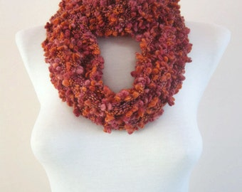 Knit Scarf, Cowl Scarves, infinity Chunky Accessories, Circle Foulard, knitting Loop Scarf, Neckwarmer,