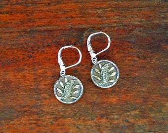 1800s Steel Cut Button Earrings