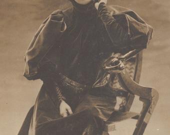 Sarah Bernhardt, Portrait in Velvet Gown, circa 1900