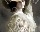 Elia-Victorian/Edwardian Woman-French Postcard-Digital Image Download