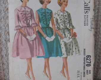 McCall's Women's Size 12 Proportional Dress Pattern 6270