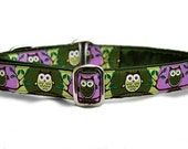 Owl Be Doggone! Jacquard Martingale Collar - 1 Inch
