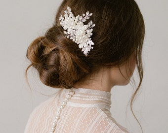 Margo Silver with Pearls Headpiece Bridal Wedding