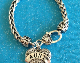 Aunt-GORGEOUS, CLASSY, and SPARKLY - Sterling Aunt Bracelet