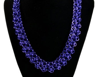 Purple Elegant Chainmaille Necklace