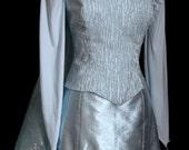 Snow Queen Elsa Costume- Snowflake Glitter Train