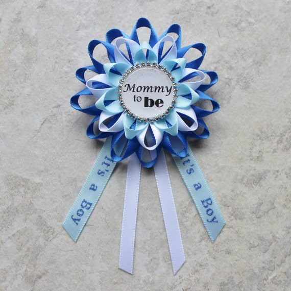 boy baby shower pin baby boy shower corsage mommy to be corsage